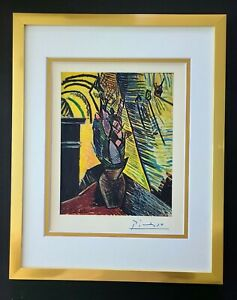 PABLO PICASSO + 1948 BEAUTIFUL SIGNED PRINT MATTED 11 X 14 + LIST  $995