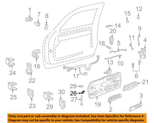 GM OEM FRONT DOOR-Hinge Assembly Spring 88891766