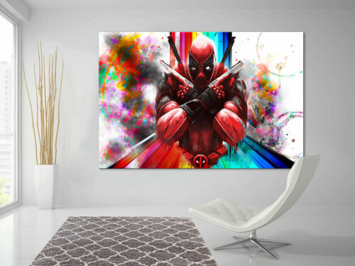 Deadpool Marvel Films Picture Canvas Abstract Art Pictures Wall Pictures XXL D1744