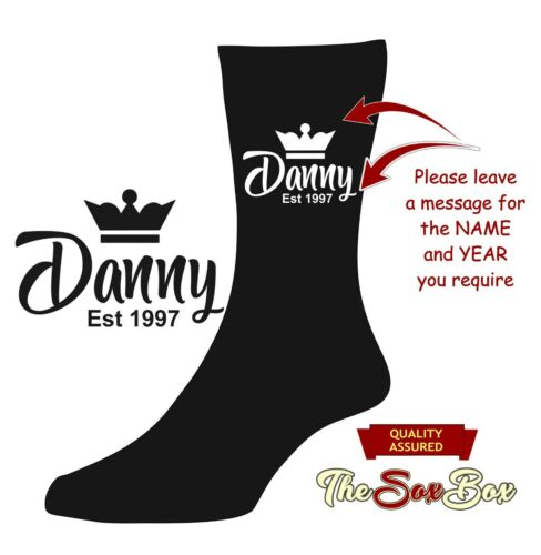 Personalised Name Socks NOVELTY 30th 40th 50th 21st 18th Any Age Birthday gifts