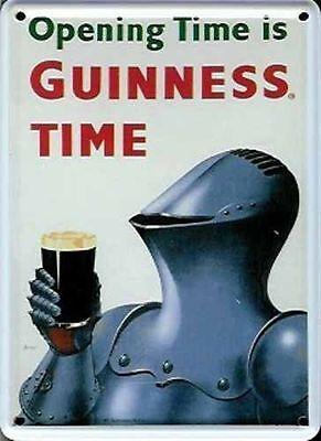 postcard  110mm x 80mm Guinness Wheelbarrow miniature metal sign hi