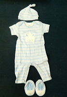 My First Easter Outfit For Boy 6-9 Months, Onesie, Hat & Booties - With Tags