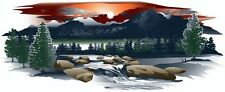 1 RV TRAILER MOTORCOACH MOUNTAIN SCENE DECAL GRAPHIC -930