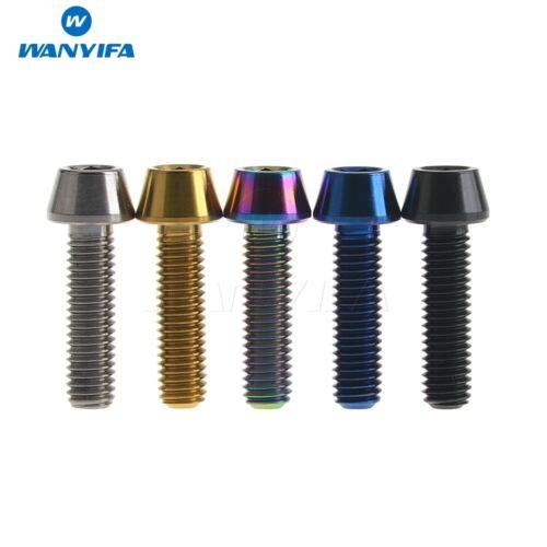 Titanium Ti Bolt Screw M5 x 18mm Taper Head Conical Head Blue//Black//Rainbow 6pcs