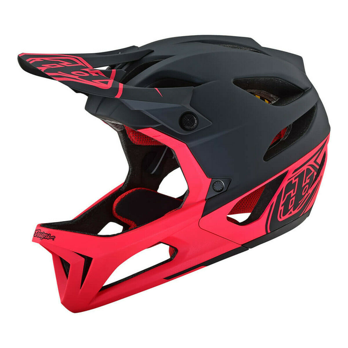 Troy Lee  Designs STAGE MIPS HELMET STEALTH BLK PINK XS SM  hot limited edition
