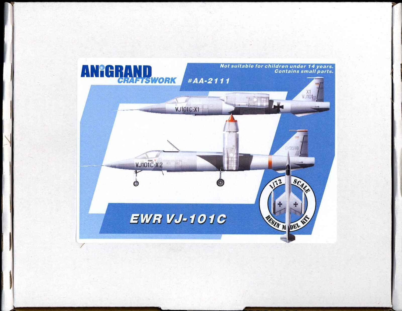 Anigrand Models 1 72 German EWR VJ-101C VTOL Predotype Fighter