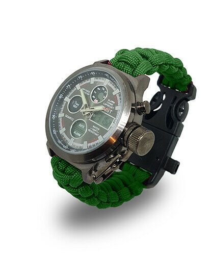 Paracord Watch in The North West Ambulance Service (NWAB) Colours For The Strap