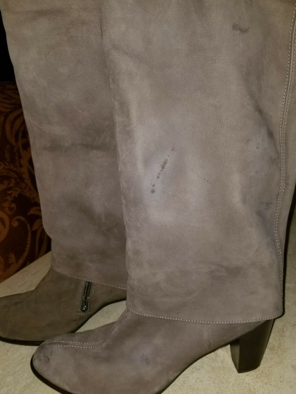 Paul Grün Taupe Tall Braun Nubuck Leder Tall Taupe cuff  Stiefel Sz 7.5M b69ed7