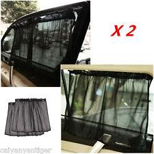2x Car Sun Shade Nylon Mesh Curtain Suction Cup UV Proof Side Window Protection
