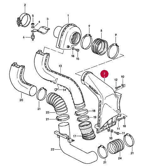 Porsche 911 Engine Hot Air Duct Blower 93021132301 C For Sale Online