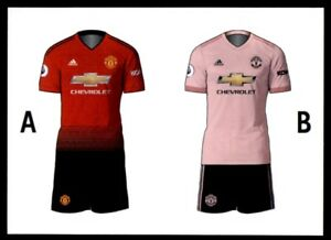 best service a8078 09ae1 Details about Merlin Premier League 2019 - Home/Away Kit Manchester United  No. 164