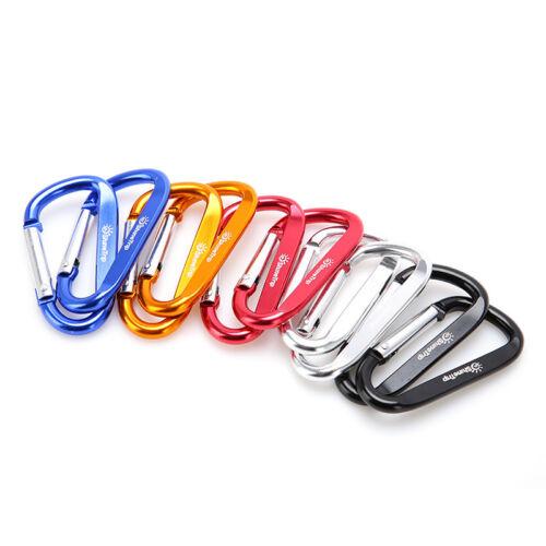 10Pcs Camping Aluminum D Shape Buckle Carabiner Survial Key Chain Hook Cli/'UK