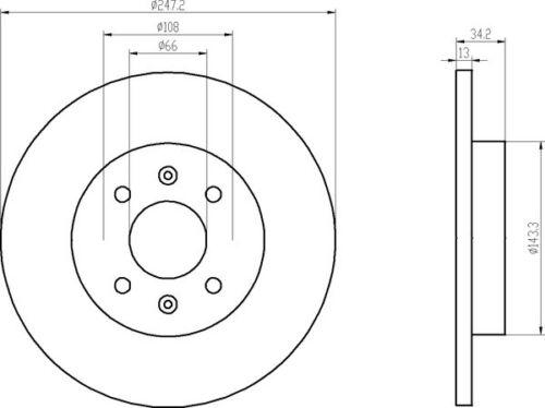 TEXTAR BREMSSCHEIBEN 247mm BELÄGE VORNE PEUGEOT 206 1.1 MIT ABS 1.4 BREMSEN