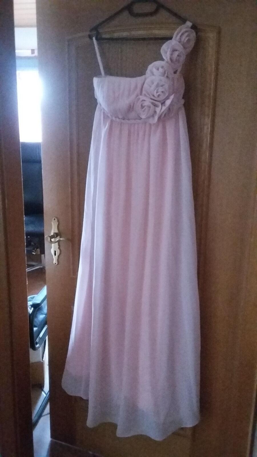 Abendkleid Rosa - Massanfertigung - Gr. ca. 32 , 1 1 1 x getragen | Reparieren  | Sonderangebot  | Qualitätskönigin  bf4cbd