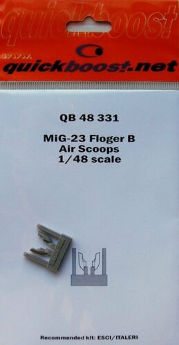 Quickboost 1//48 MiG-23 Flogger B Air Scoops # 48331