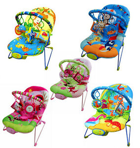 Baby Rocker Bouncer Reclining Vibrating Chair Soothing Music Vibrating Multi