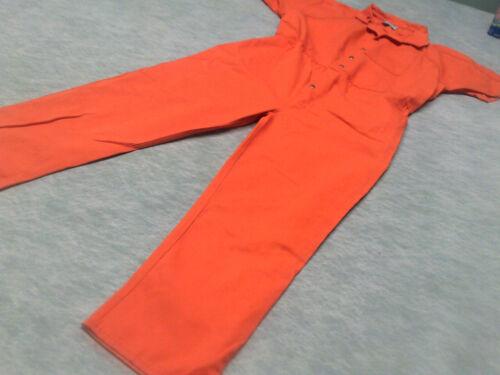 Convict Inmate Jail Prisoner Costume Orange Jumpsu