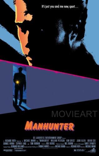 MANHUNTER MOVIE POSTER FILM A4 A3 ART PRINT CINEMA