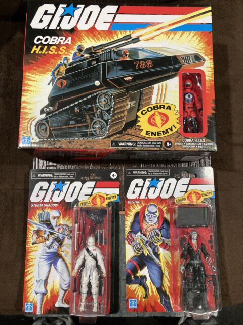 🐍GI Joe Retro Collection Storm Shadow / Hiss Tank / Destro 3 Pack