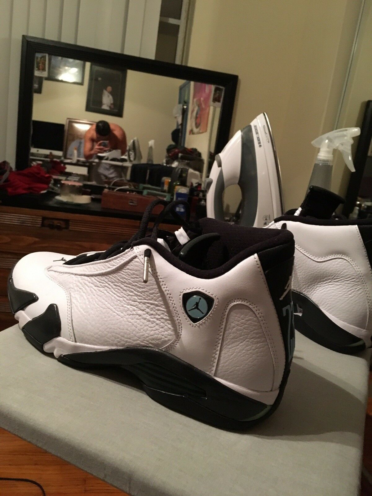 Jordan 14 oxy green low and Jordan 9 bred low , BOTH SHOES 200 OR BEST OFFER