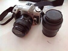 Vintage Minolta Maxxum xtsi 35mm With 2 Lenses
