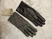 G Star Correctline Women/' Leather Bloque Gloves in Python Size S $155 BNWT