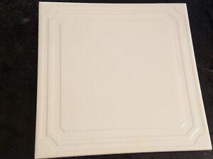 "(1 EACH) Gloss White ""Picture Frame"" Square Ceramic Florida Tile 8"" X 8"""