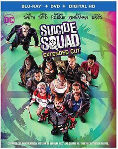 Suicide Squad (Blu-ray, DVD, Digital) NEW Extended Cut