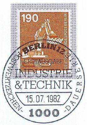 Sanft Berlin 1982: Industrie Und Technik Nr. 670 Mit Ersttags-sonderstempel! 1a 1512 Eine GroßE Auswahl An Farben Und Designs