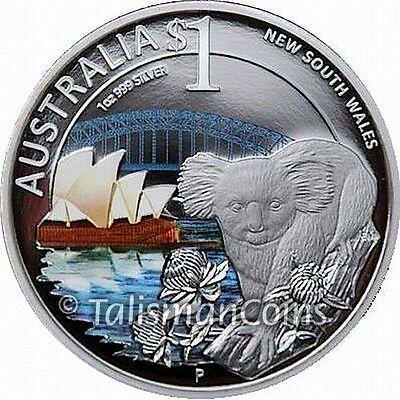 Australian 2010 ANDA Coin Show Special Koala Sydney Opera House $1 Silver Proof
