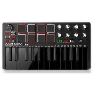 Akai-MPK-Mini-MKII-25-Key-Keyboard-Controller-Special-Edition-Black-on-Black
