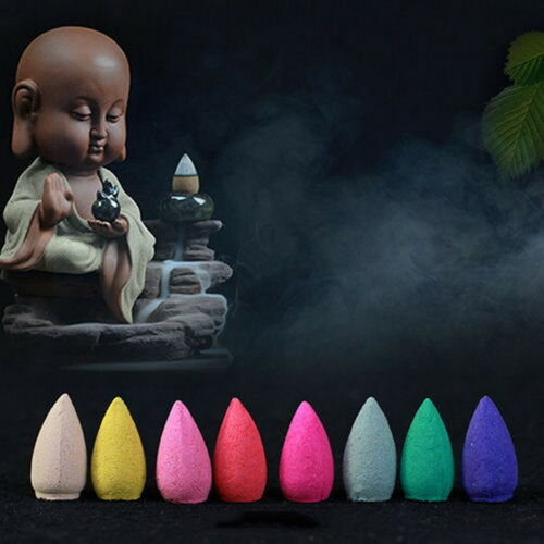 Incense Backflow Back Flow Cone Scents Natural Fragrance without Holder 70pc