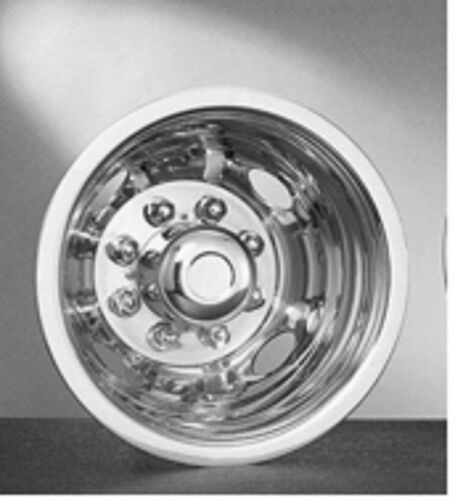 1pc Ford Truck Dual Steel 16 Wheel Simulators 8 Lug Rim Skins Liners Covers RV