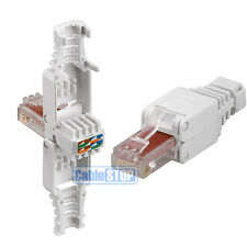 Cat 6 RJ45 Ethernet Cable Connector NEW - NO CRIMPING TOOL NEEDED