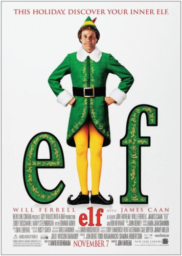 Elf Will Ferrell Classic Movie Poster Print A0 A1 A2 A3 A4 Maxi