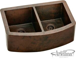 Stupendous Details About Ariellina Farmhouse 14 Gauge Copper Kitchen Sink Lifetime Warranty New Ac1800 Interior Design Ideas Inesswwsoteloinfo
