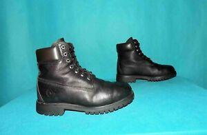 bottines boots TIMBERLAND 6 inch en cuir noir pointure 7 w ou 41 fr