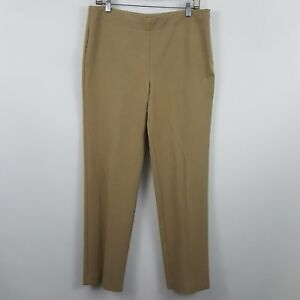 Talbots Classic Size Zip Brown/Tan/Nude Women's Career Dress Pants Sz 10 - 32x31