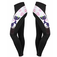 Cat Girl Women's Cycling Pants Gel Padded Long Road Bike Bicycle Tights Spandex