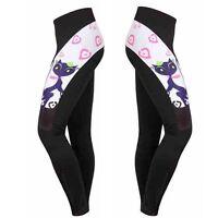 Cat Girl Women's Cycling Pants Gel Padded Long Road Bike Bicycle Tights Spandex