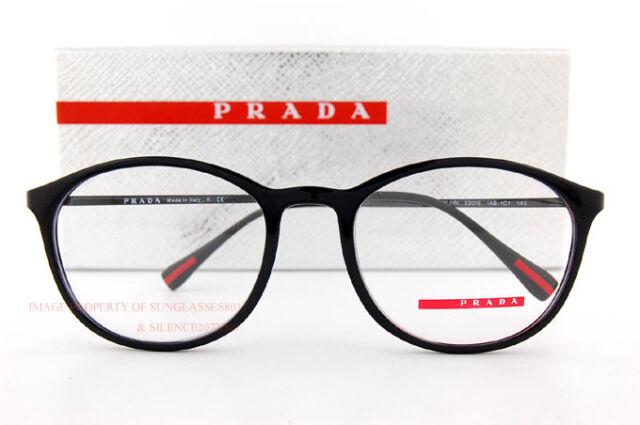 PRADA Sport Linea ROSSA Eyeglass Frames PS 04hv 1ab Black for Men   eBay