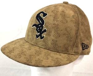 9b52e1e32ab1c Chicago White Sox ⚾ MLB New Era 59Fifty Suede Pinhole Flat Bill ...