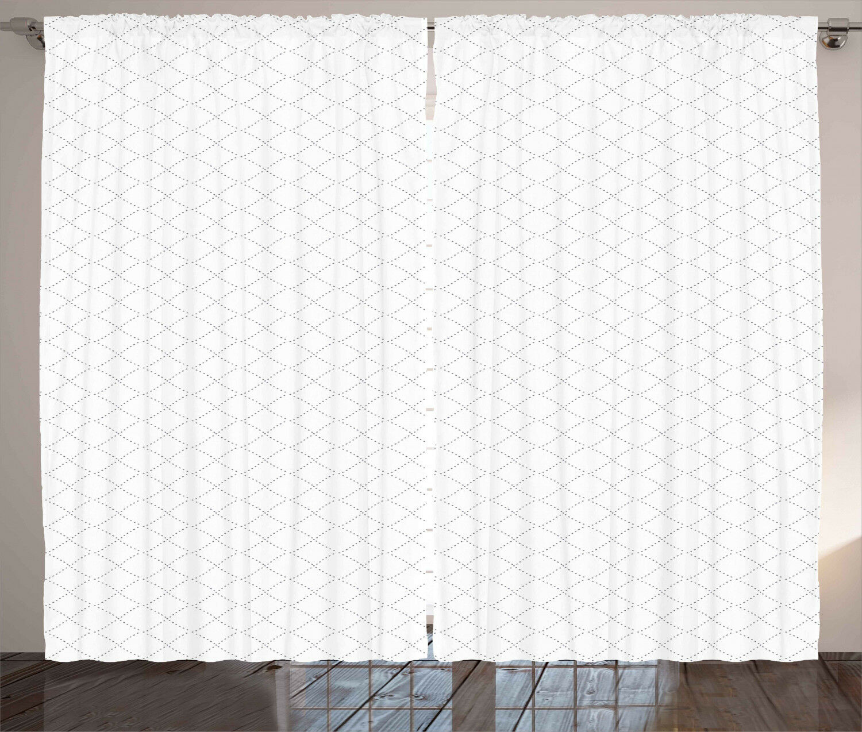 Geométrico Cortinas moderno con puntos cuadrados Ventana Cortinas 2 pulgadas Panel Set 108x90