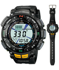 Casio-Protrek-Solar-Digital-Mens-Black-Triple-Sensor-Watch-PRG240-1-PRG-240-1