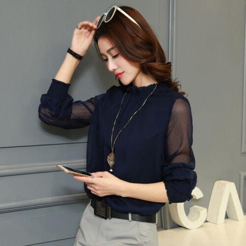 Elegant Casual Blouses Women Long Sleeve Shirts Ladies Fashion Clothing Top New