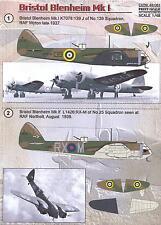 Print Scale Decals 1/48 BRISTOL BLENHEIM Mk.I British WWII Bomber