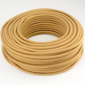 Textilkabel-Leitung-Faser-umflochten-rund-Abaca-Gobi-3x0-75-H03VV