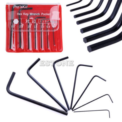 7Pcs 0.7mm-3mm Hexagone Hex Allen Clé Set Clé à molette Tournevis Mini Micro Tool Kit