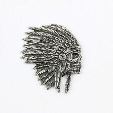 Bike Chopper Motorrad Indian Skull Indianer Totenkopf Pin Anstecker Anstecknadel