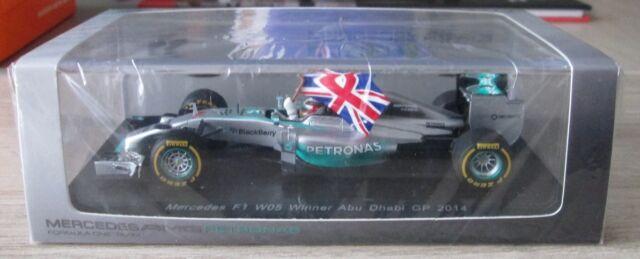 F1 1/43 MERCEDES W05 L. HAMILTON WINNER ABU DHABI GP 2014 SPARK